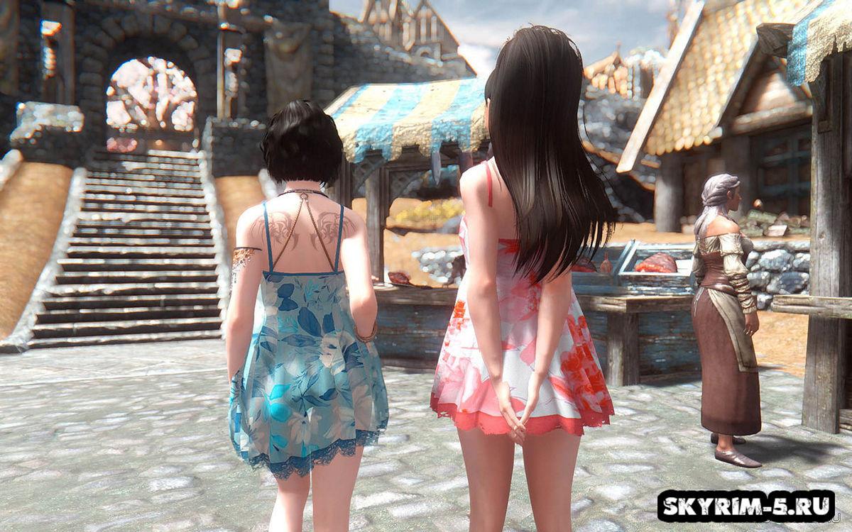 Набор летних мини-платьев -