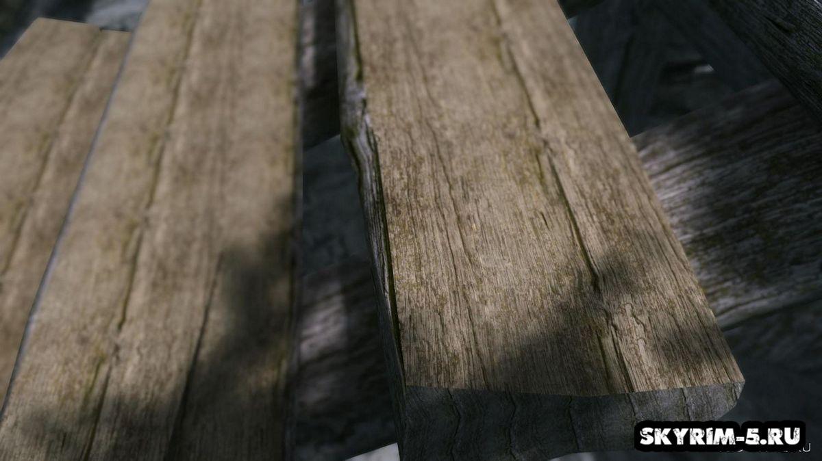 HD ретекстур деревянных конструкция и заборов -