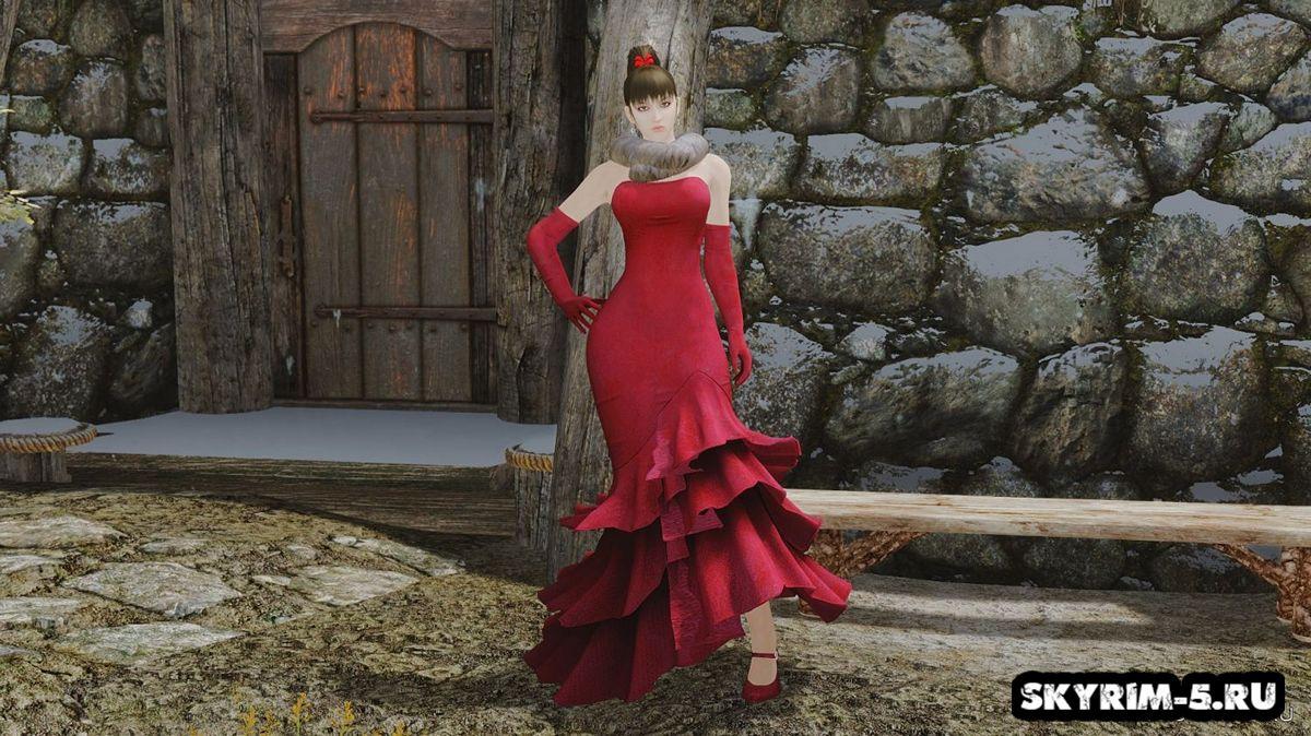 Нарядное платье UNPB-TBBPМоды Скайрим > Броня и одежда Скайрим