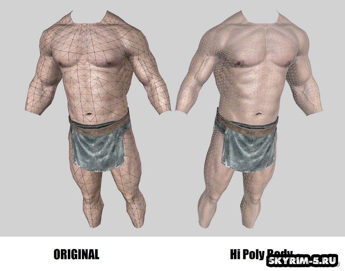 Мужское тело - Высокополигональная модель