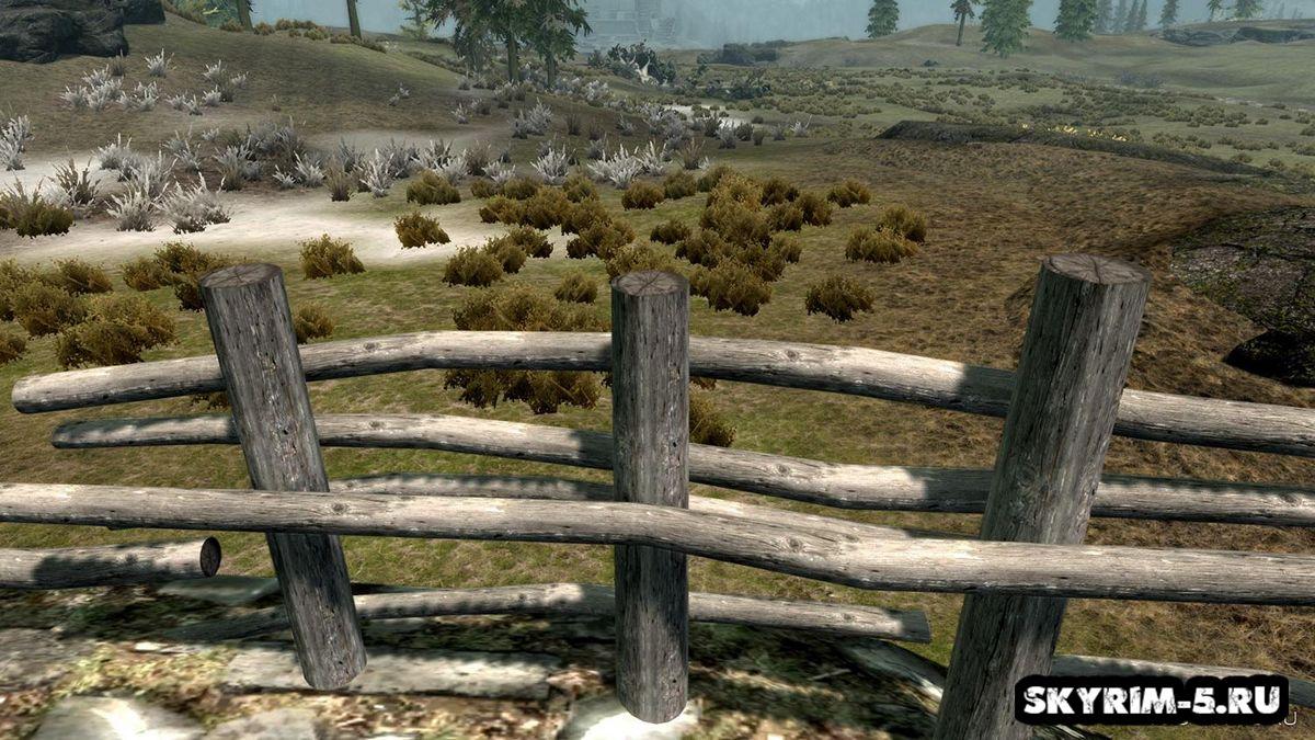 3D деревенские заборы -