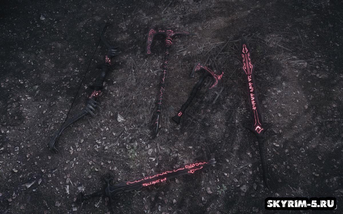 Даэдрическое нордское оружие герояМоды Скайрим > Оружие Скайрим