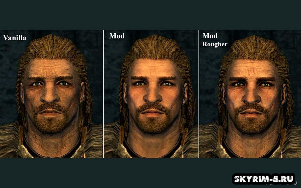 Детализированные мужские лица -