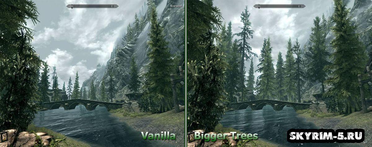 Большие деревья Скайрима -