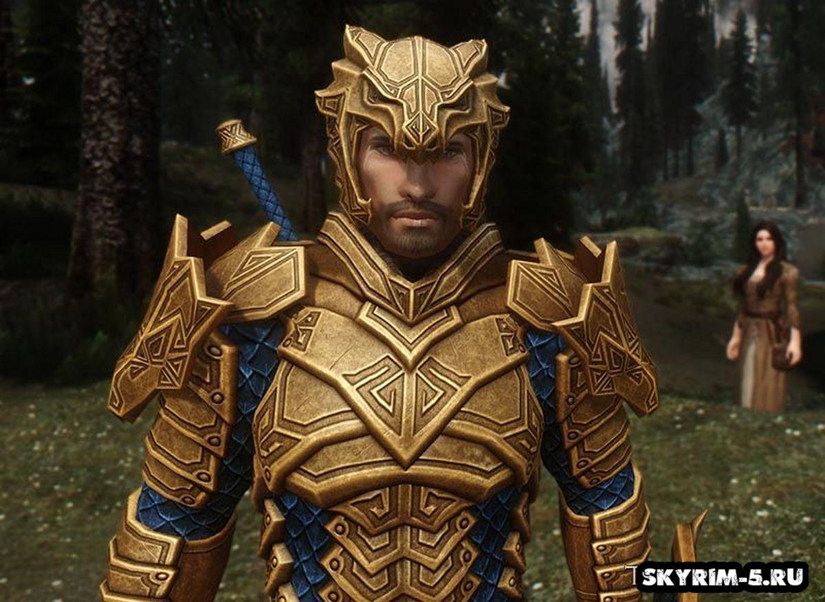 Царская Драконья Резная Броня - Золотая -