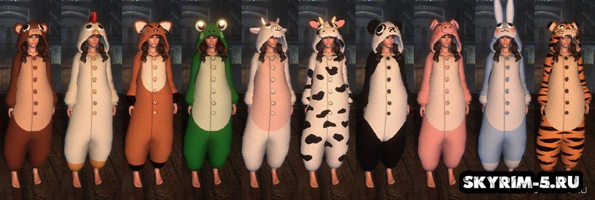 Пижамы животныхМоды Скайрим > Броня и одежда Скайрим