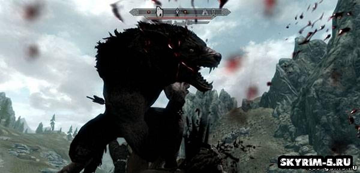 Дикие вервольфы в Скайриме -