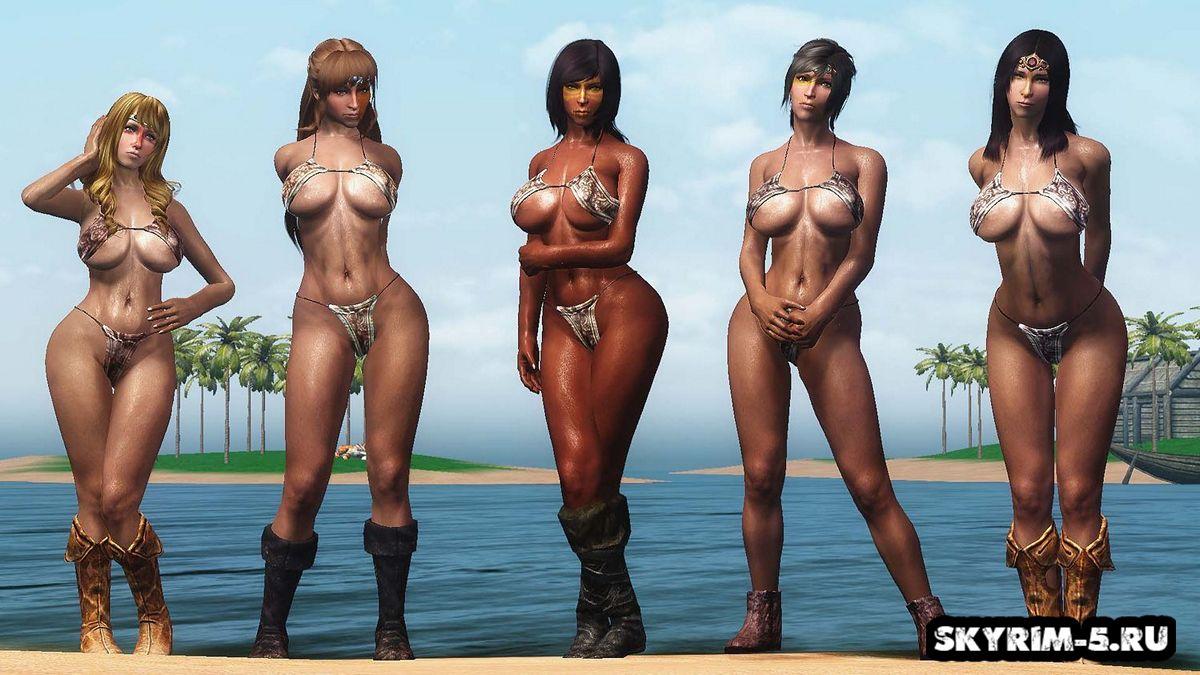 Броня и одежда в тропическом стиле - CBBEМоды Скайрим > Броня и одежда Скайрим