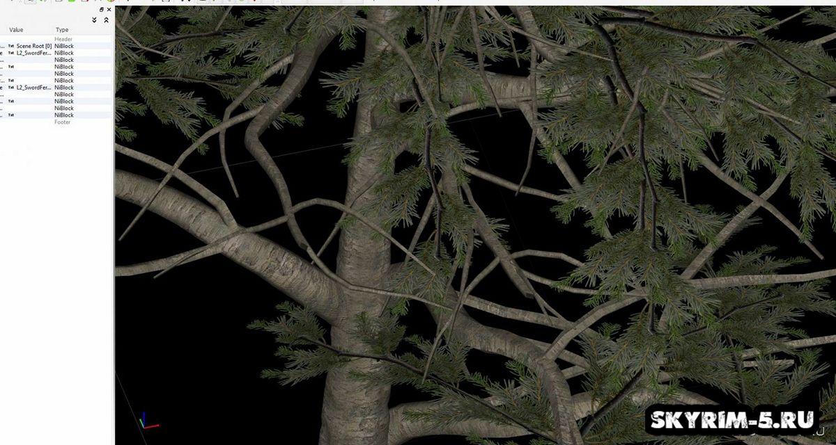 HD сосна - Все дерево -