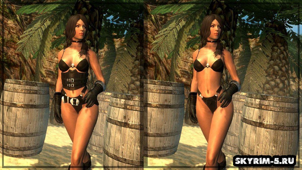 Женская пиратская броня для CBBE -