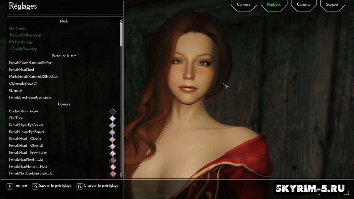Женский пресет вампира -
