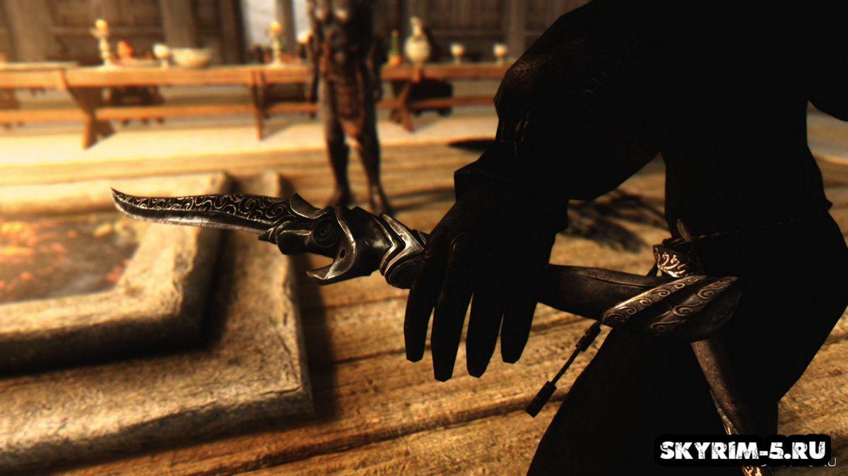 Темное эбонитовое оружие -