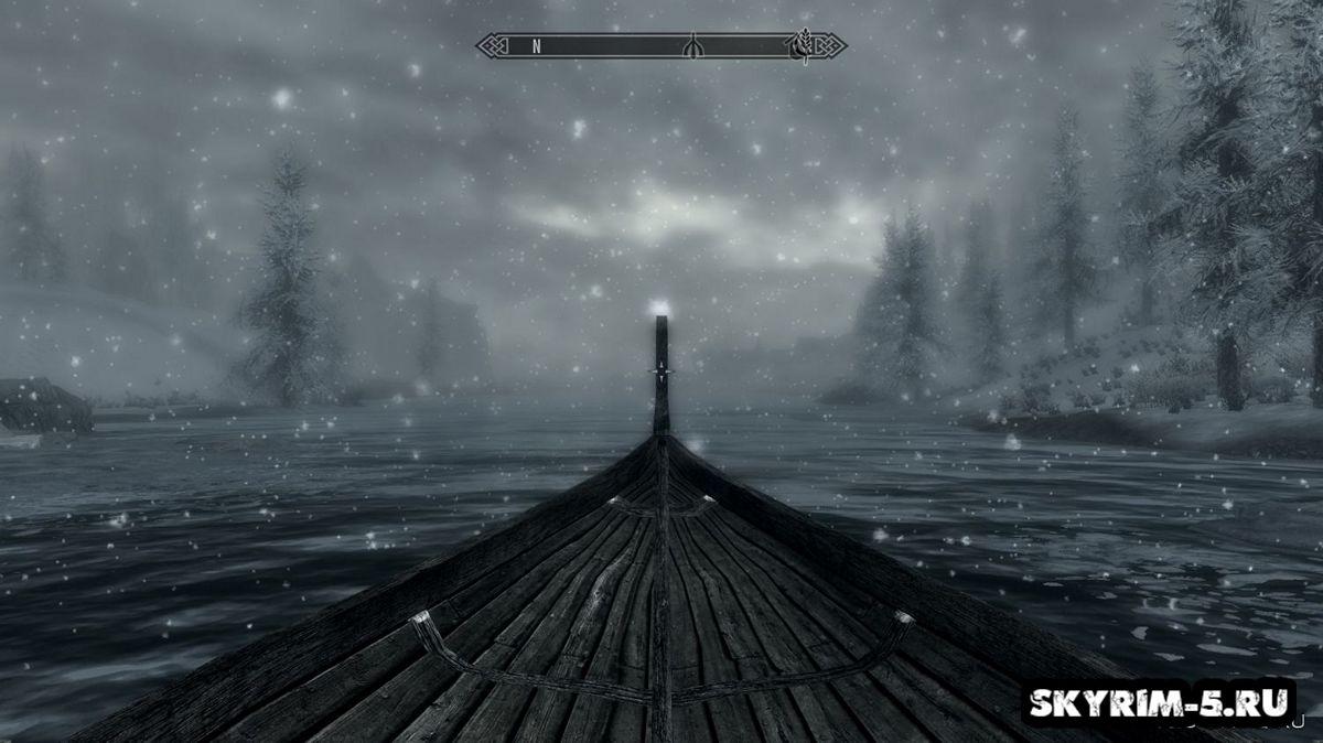 Лодка в Скайриме -