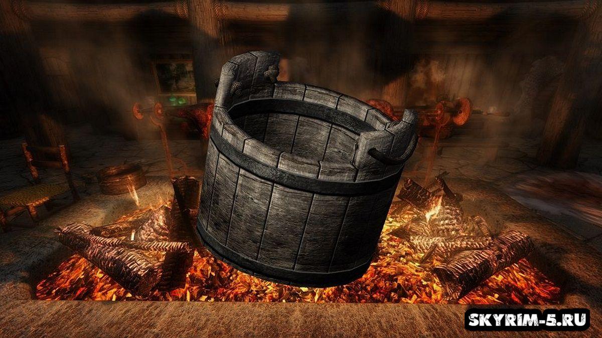 Ретекстур деревянной бадьиМоды Скайрим > Прочее Скайрим