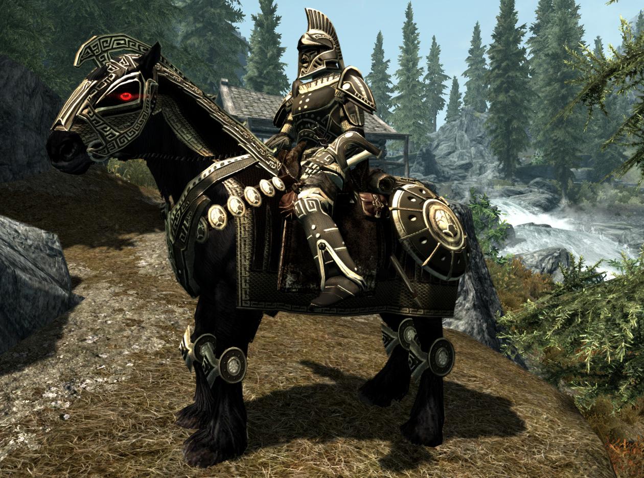 Как  прокачаться при помощи лошади в Скайрим Skyrim -