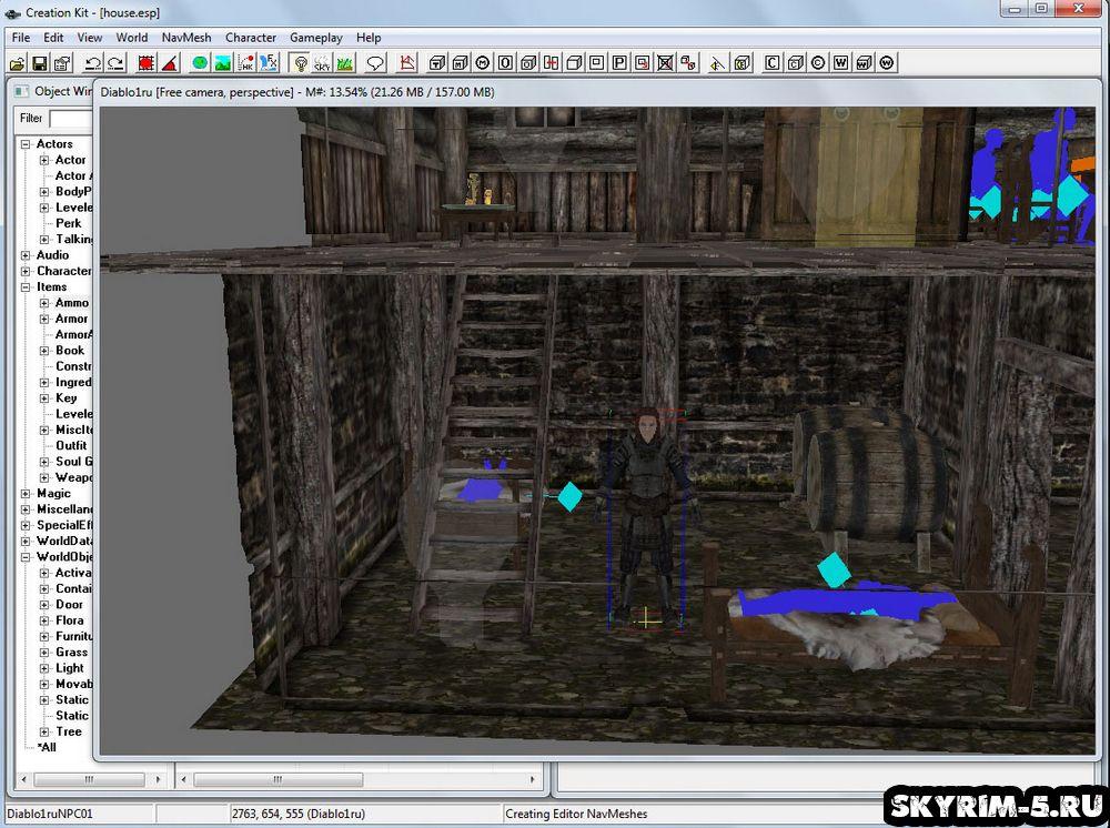 Скайрим — Creation Kit: создание NPC и AI -